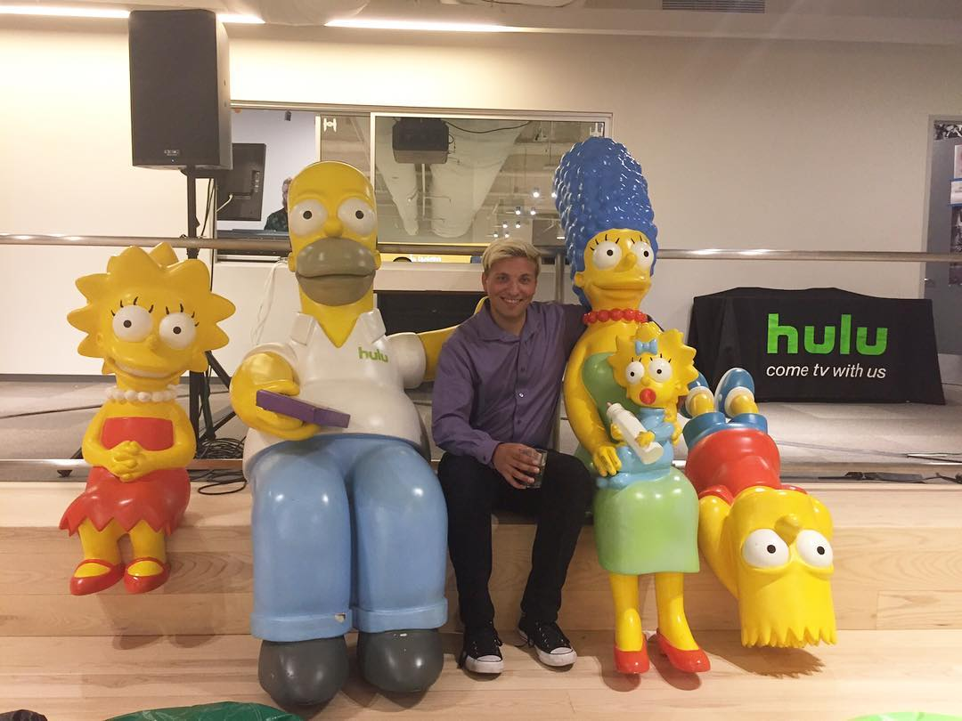 Hanging at the Future of Entertainment design event #simpsons #hulu #entertainment #design #agencylife