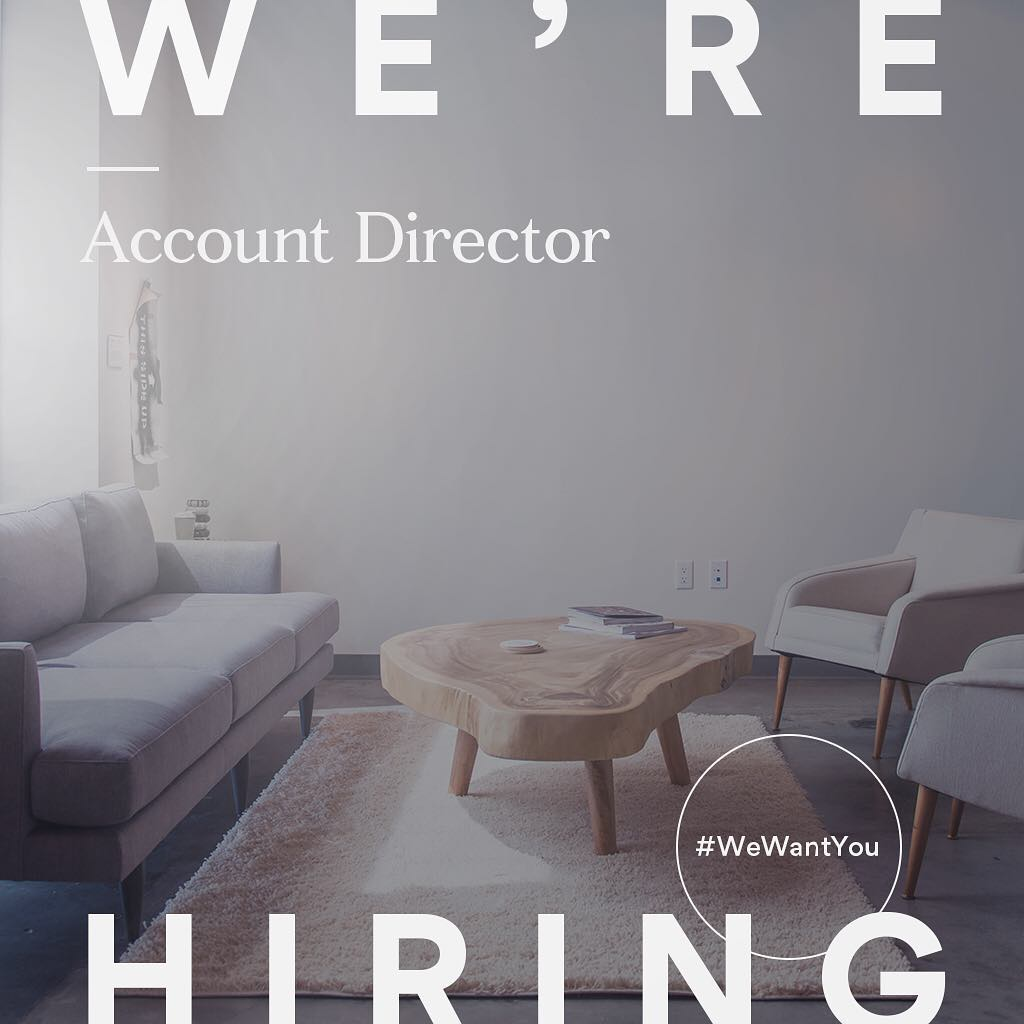 Passionate about entertainment and branding? Troika is hiring a new Account Director! Learn more about the position (link in bio). #wewantyou