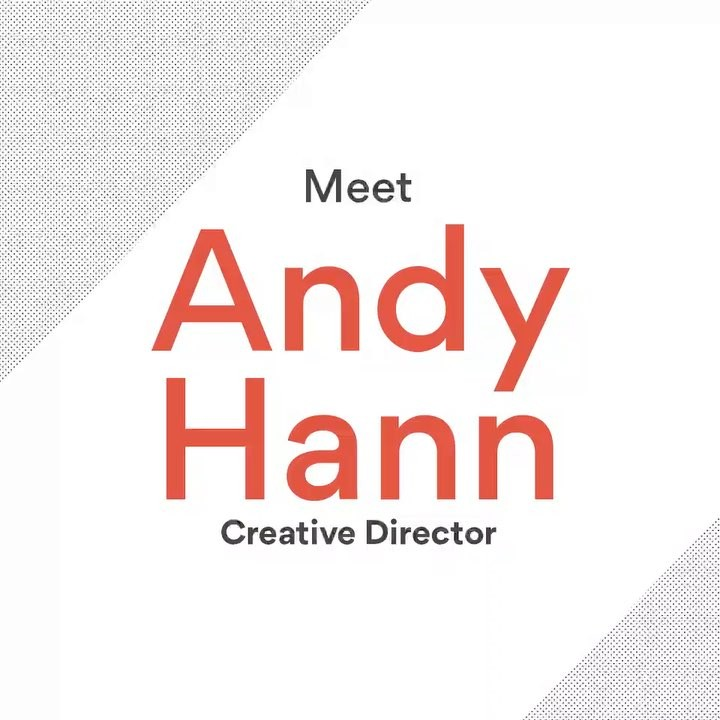 Meet our new creative director, Andy Hann (@andyhann01), and don't forget to bring him donuts! 🍩😊