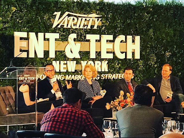 Great time in the big 🍎 hearing from some of our valued clients on how they are integrating tech and intelligence into every facet of their business. Here, one of our favorite partners- @amc_tv President Charlie Collier talks about the importance of brand @variety